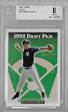 1993 Topps Gold Derek Jeter Rookie Card #98 Beckett NM-MT 8