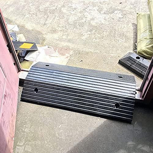 Comif-seggiola da bar Rampa de umbral para Puertas, rampa de Goma Maciza, rampa de transición de Puente con Rejilla Inferior, para Scooters para sillas de Ruedas, Negro