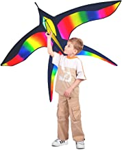 Stoie's Bird Kite – Huge Kite - Ideal for Kids and Adults – Easy to Launch – 62 inch Wide and 38 Inch Long– 100 Meter String – Unique Ring Handle – Built to Last - Great for Family Fun