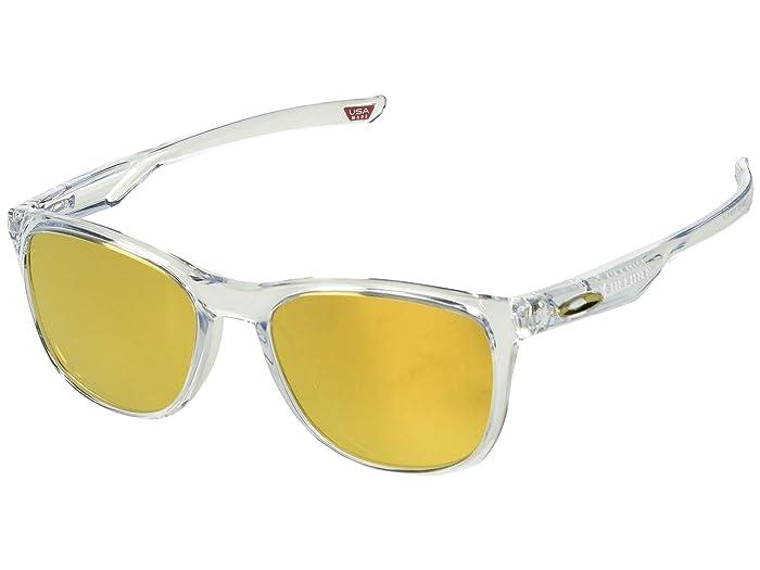 Oakley Trillbe X (Polished Clear/24K Iridium) Sport Sunglasses