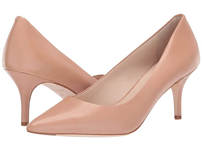 Vintage Style Shoes, Vintage Inspired Shoes Cole Haan Vesta Pump 65mm Nude Leather Womens Shoes $180.00 AT vintagedancer.com