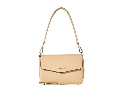Calvin Klein Ava Saffiano Shoulder Bag (Rye) Handbags