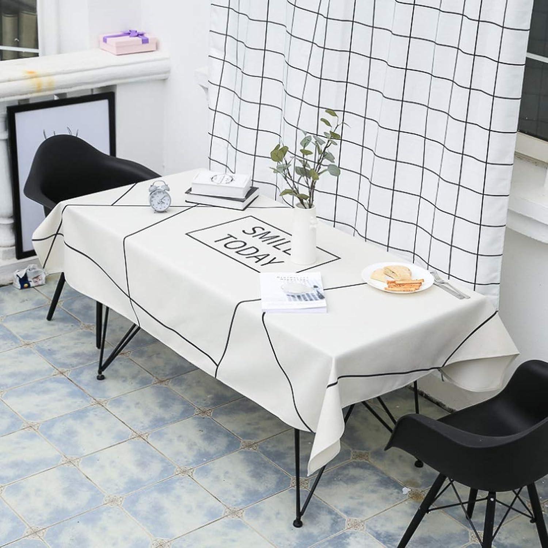 Nappe rectangulaire en coton et lin Nappe de table voiturerée de table basse (Couleur   J, Taille   140X200CM)