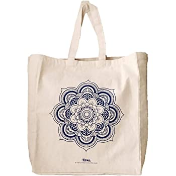Arka Home Products Cotton Reusable Shopper Bag (Off-White_SBFP01)