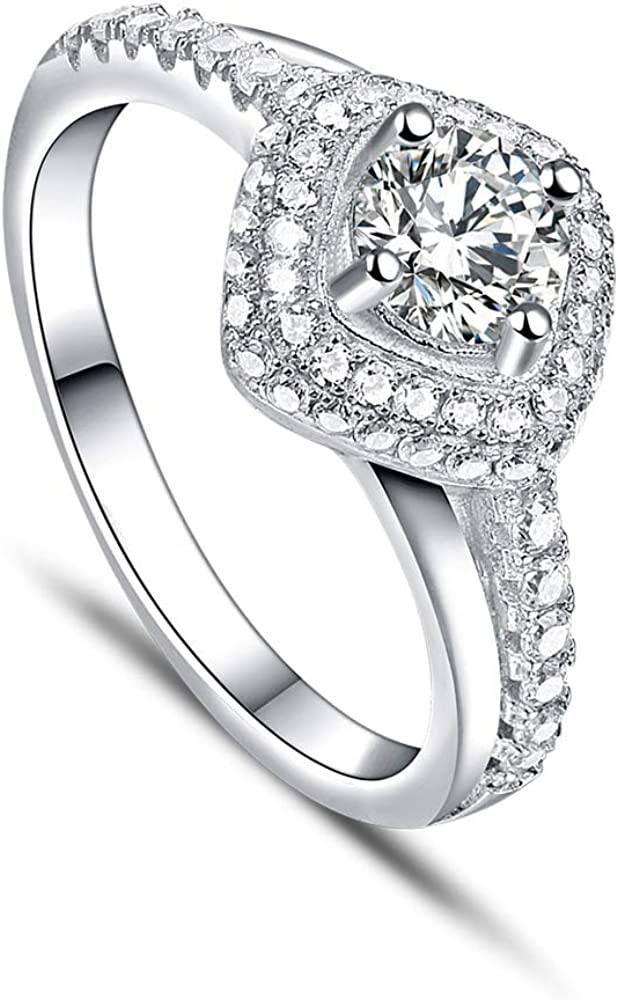 Inexpensive RMREWY Moissanite Ring Center 1Ct Engagement Name OFFicial store Mo Custom