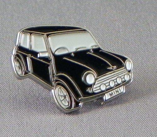 Pin de metal esmaltado, insignia broche negro Mini estilo coche