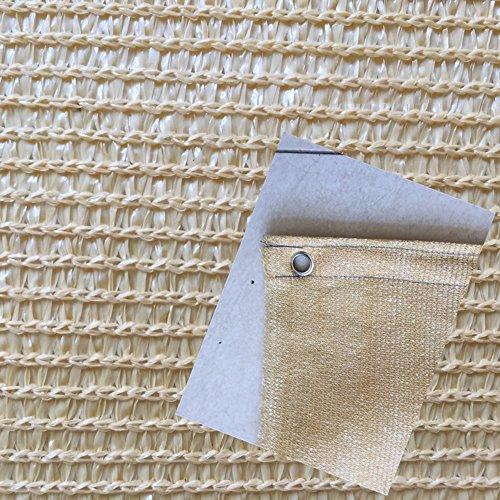 DUO Voiles d'ombrage 85% beige toile de protection solaire pour la couverture végétale serre fleurs, plantes, pelouse de patio (taille : 3.6m×5m)