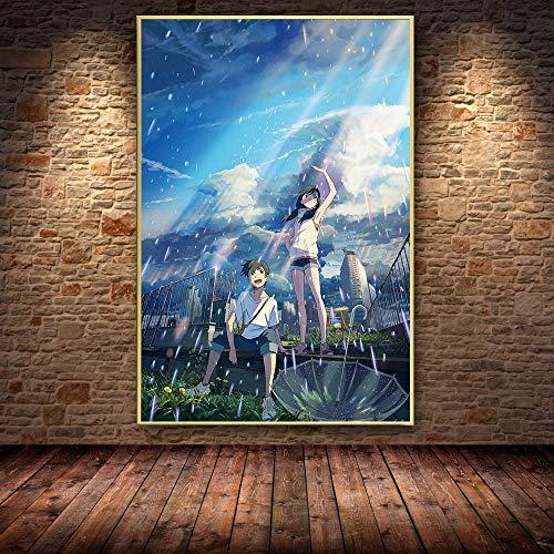 PLjVU Escuela de útiles Escolares Halloween-Carteles e Impresiones de Pintura al óleo sobre Lienzo de Anime Cuadros Cuadros de Arte de Pared para la habitación de los niños-Sin marco60X90cm