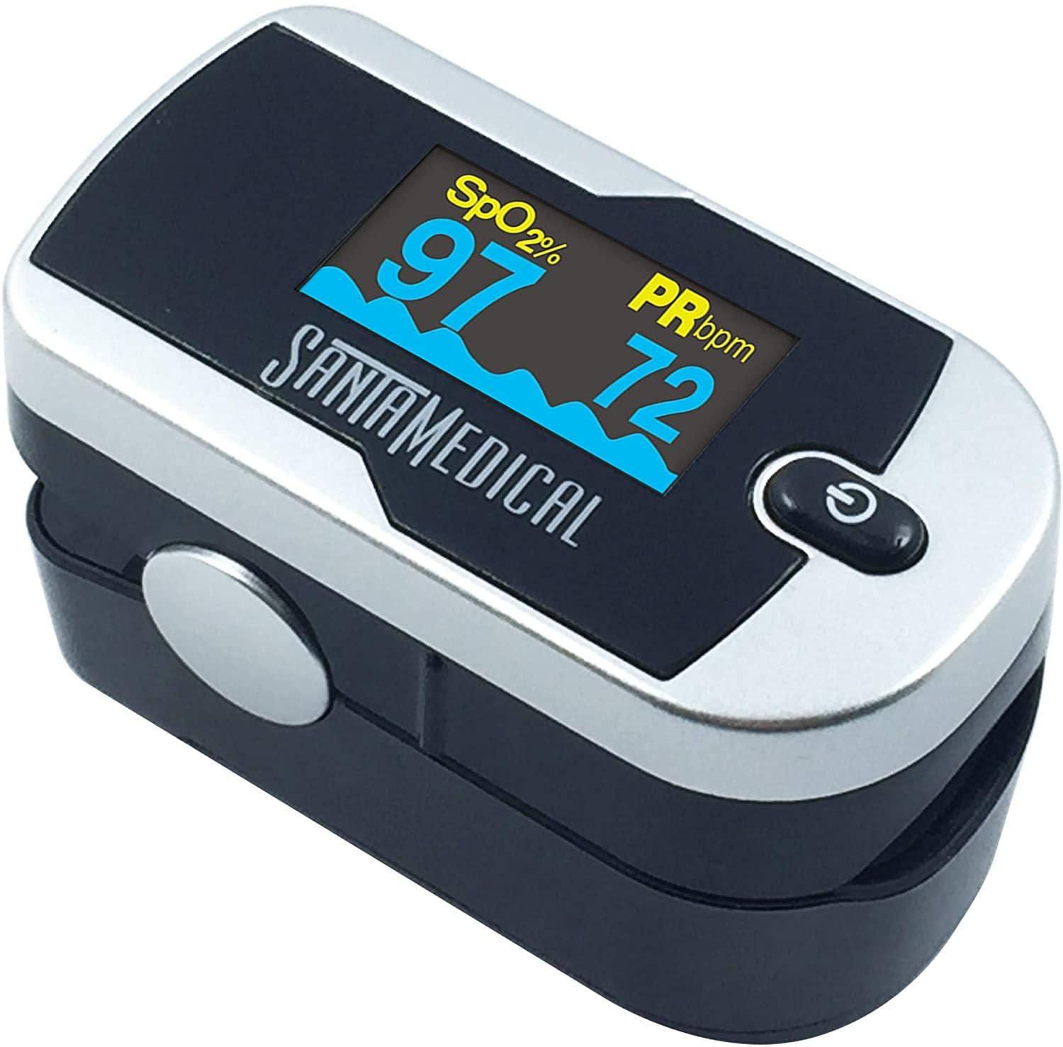 Santamedical Generation 2 Fingertip Pulse Oximeter Oximetry Blood Oxygen Saturation Monitor with Batteries and Lanyard : Health & Household