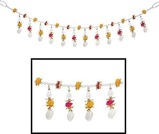 Amba Handicraft Door Hanging Toran Window Valance Dream Catcher Home Décor Interior Pooja bandanwaar Diwali Gift Festival Colorful Indian Handicraft Love.TORAN 202