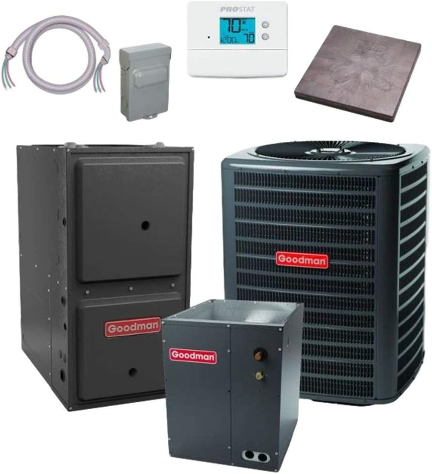 Goodman 3.5 free shipping TON 15 SEER Conditioner bundle Super Special SALE held GSX160421 CAPF48 Air