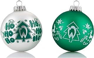 Werder Bremen Weihnachtskugeln Christbaumschmuck 4er Set
