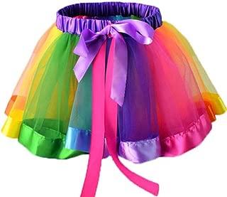 Toddler Baby Girl Rainbow Tutu Unicorn Costume Birthday Party Tulle Skirt Dress Outfit Set 2pc