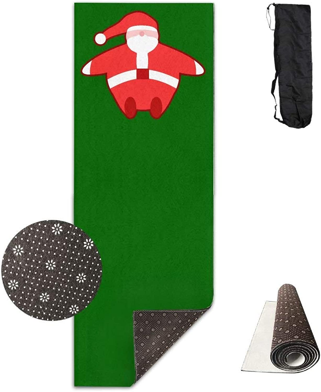 Cute Sleeping Santa Claus Yoga Mat Towel for Bikram Hot Yoga, Yoga and Pilates, Paddle Board Yoga, Sports, Exercise, Fitness Towel
