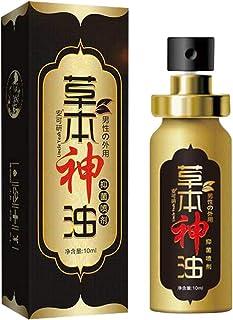 Men Massage Oil Spray 10mL - Herbal Strong Man Viagra Sex Massage Oil Retard Ejaculation Enhancers Aphrodisiac Long Time Sex Delay Spray Erection for Man