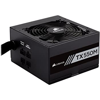 Corsair CP-9020133-UK TX550M 550 W 80+ Gold Power Supply Unit, Black