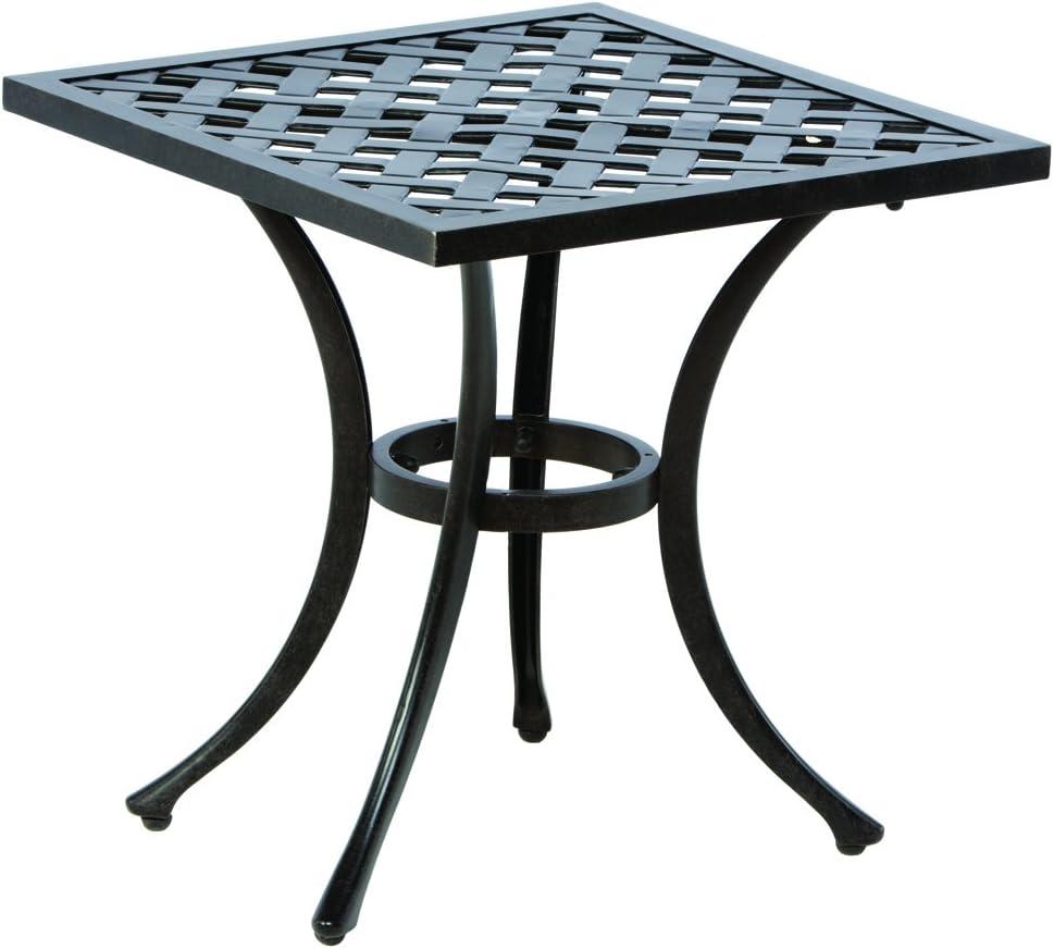 Alfresco Home 22-1157-AF Weave Square Side Table, 21-Inch