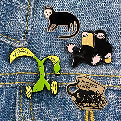 SHAOWU Niffler Pickett Enamel pin Magical animal pins brooches face Punk Coffin cat Shirt bag Lapel pin badges Movie jewelry gift coffincat1