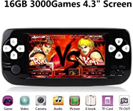 """Handheld Game Console, Retro Game console with 4.3"""" TFT IPS Screen 4GB PAP Classic Game Console with 3000 Games 64 Bit Por..."""