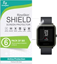 (6-Pack) RinoGear Xiaomi Huami Amazfit Bip Screen Protector Case Friendly Screen Protector for Xiaomi Huami Amazfit Bip Accessory Full Coverage Clear Film