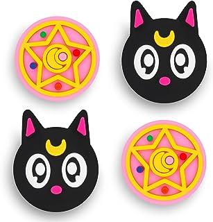 Owngen Cute Thumb Grip Caps for Nintendo Switch / Lite, Kawaii Magic Moon Joy-Stick Button Stick Cover 3D Analog Ergonomic...