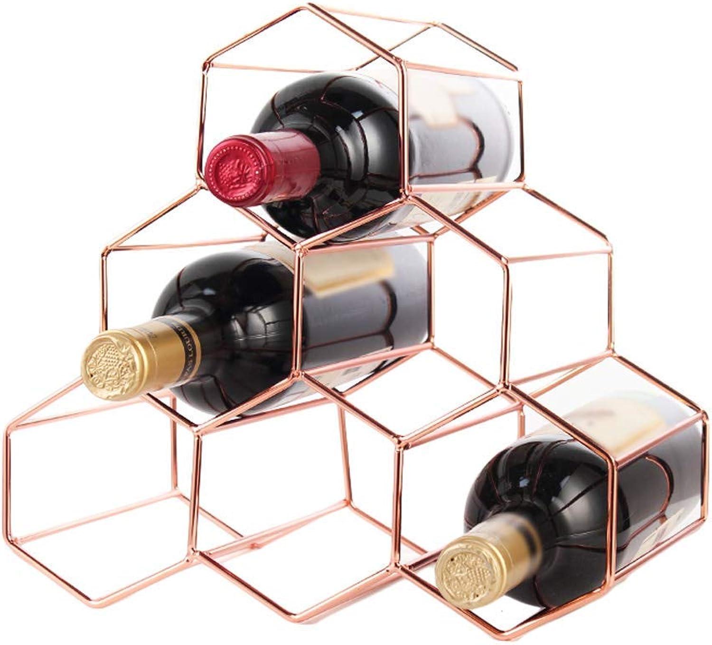 GWFVA Decoración del Estante del Vino Adornos de Metal Decoración del gabinete del Vino del hogar 28  28.5  26cm