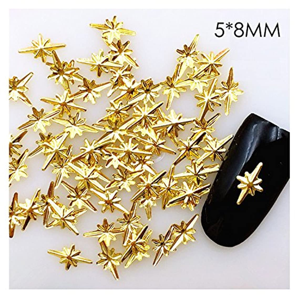 地理共産主義者学んだ40個入り ダイヤ5*8ミリ 40個入り恒星 ゴールド メタルパーツ スタッズ ネイル用品 GOLD スター アート パーツ デコ素材