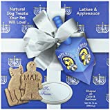 Bark Bars Hanukkah Box With Bow Laktes/Applesauce Pet Treat, 12-Ounce
