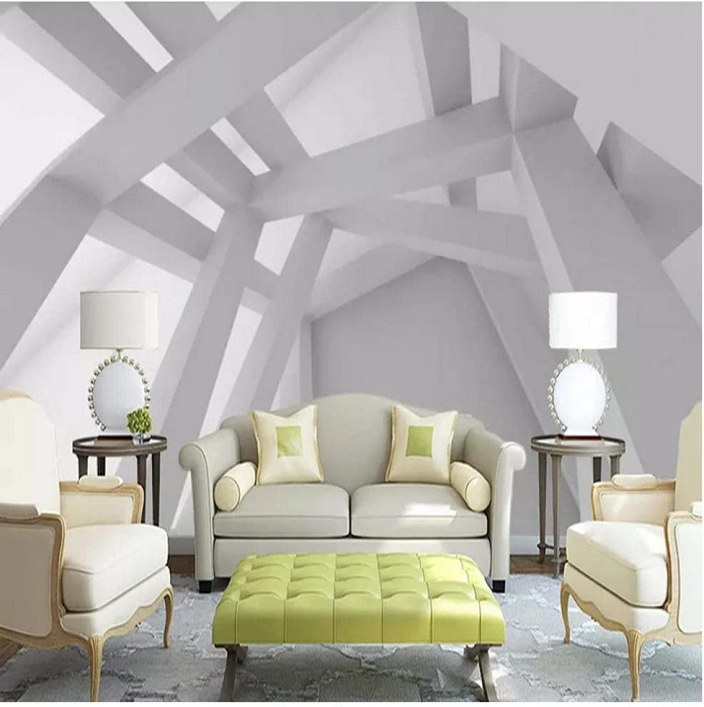 N\ A Modern OFFer Creative Geometric SEAL limited product Photo Living Wallpaper So TV Room