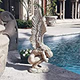Remembrance and Redemption Angel Religious Garden Statue,Grand, Ancient Ivory,Redemption Angel Statue, Polyresin, Antique Stone (Large 24x6.6x10.4)