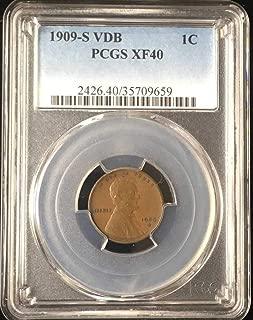 1909 S V.D.B Wheat Penny XF40 PCGS