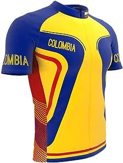 ScudoPro Colombia Full Zipper Bike Short Sleeve Cycling Jersey for Men