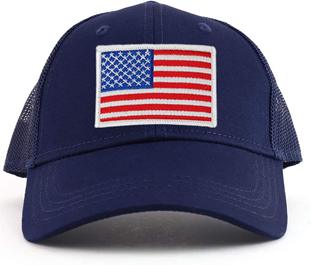 Armycrew White American Flag supreme Patch Youth Size Panel Trucker Max 74% OFF Ba 6