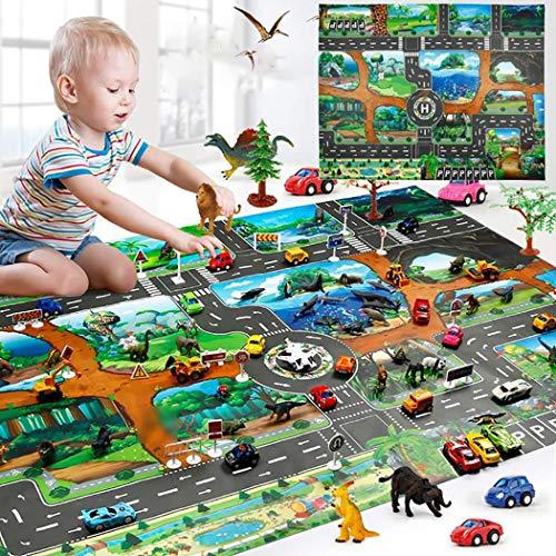 Cokil Kinder Karte Taft Tier Spielmatte Baby Road Teppich Home Decor Pädagogisches Spielzeug Teppiche & Läufer