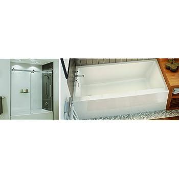 Maax 60 X 32 X 20 Right Drain Regular Alcove Bathtub Rubix 105704