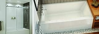 Maax 60 x 32 x 20 Right Drain Regular Alcove Bathtub Rubix 105704-R-000-001 Soaking Tub