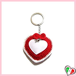 Llavero rojo del corazón de ganchillohttps://amzn.to/2Ms7Z8K