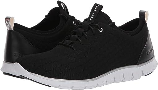 Black Knit/Leather/Optic White