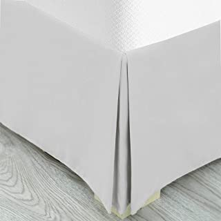 """Pleated Bed Skirt, Wrap Around Bed Skirt, Easy Fit 14"""" Inch Bed Skirt, Soft Double Brushed Premium Microfiber Ruffle Bed S..."""