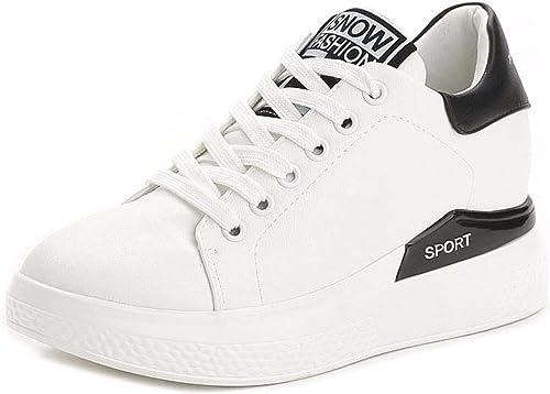 GTVERNH Chaussures Femmes A L'Intérieur des Chaussures Blanches Printemps épais Bas Gateau De Chaussures étudiants Joker Les Loisirs Les Chaussures De Sport.