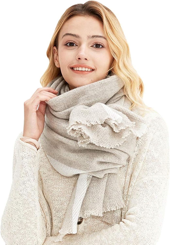 Cold Weather Scarves Women's Scarf Joker Fashion Scarf Girl Wool Big Shawl Winter Lady Scarf Wrapped Lady Shawl Soft Warm Scarf Cashmere Long Shawl Wraps (color   Khaki, Size   200  65cm)