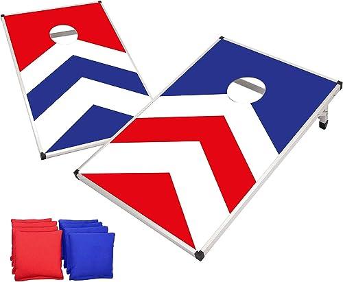 Original Cornhole Officiel | Jeu Cornhole Américain | Dimensions Officielles | Aluminium | Qualité Premium | 2 Boards...