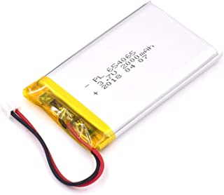 YDL 3.7V 2000mAh 654065 Lipo battery Rechargeable Lithium Polymer ion Battery Pack with JST Connector