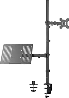VIVO Laptop and 13 to 32 inch LCD Monitor Stand up Desk Mount, Extra Tall Adjustable Stand, Fits Laptops up to 17 inches, ...