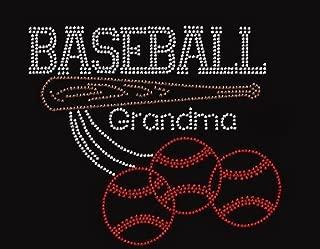 Baseball Grandma Rhinestone Iron on T Shirt Design