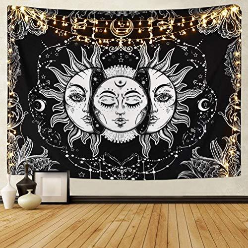YANSHON Kunst Wandteppich, Tapisserie Moon Phase Change Wandbehang, Wandteppich mit Art Nature Home Tischdecke Dekorationen für Wohnzimmer, Schlafzimmer Dekor