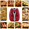 Della Electric Air Fryer w/Temperature Control, Detachable Basket Handle - Red, 1500W #2