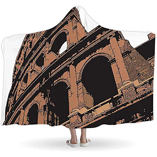 BeiBao-shop Colosseum, Hooded Blankets172495, Tragbar