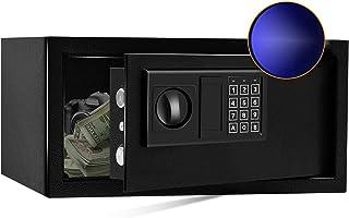 SamYerSafe Safe Box with Sensor Light,0.8 Cubic Feet Security Safe with Electronic Digital Keypad Money Safe Steel Constru...