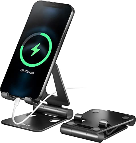"""popular Nulaxy A4 Cell Phone Stand, Fully Foldable, Adjustable Desktop Phone online Holder Cradle Dock Compatible with Phone 11 Pro Xs Xs Max Xr X 8, iPad Mini, Nintendo Switch, discount Tablets (7-10""""), All Phones sale"""